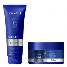 Lowell Violet Platinum Kit Shampoo 240 Ml E Máscara 240g